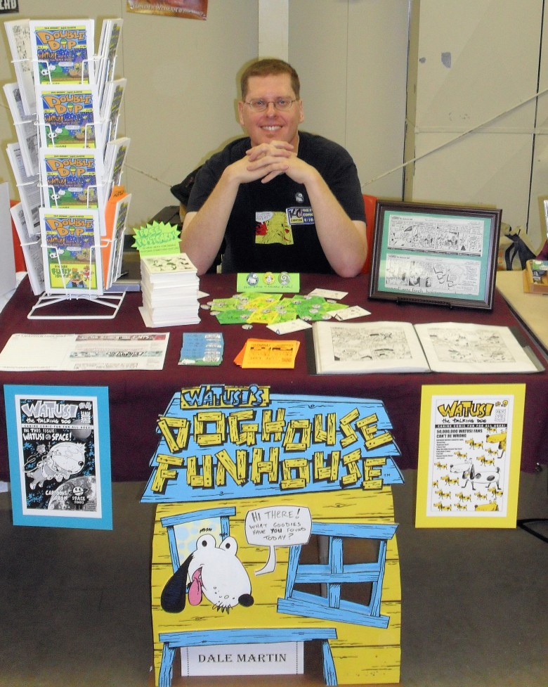 My display at the 2011 Free State Comicon; photo by Benjamin Young