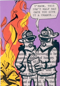 On Day at the Book Burning; Mixed Media, 2013