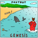 "Reinterpretation of Genesis' ""Foxtrot"" album cover, done in the style of their ""Duke"" cover. Ink drawing with digital color, 2011. You can read more about this piece here."
