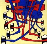 """""""Din"""". Acrylic on panel, 12""""x12"""", 2006."""