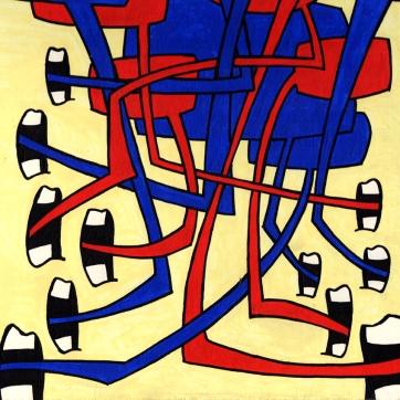 """""""Din"""". Acrylic on panel, 12"""" x 12"""", 2006."""