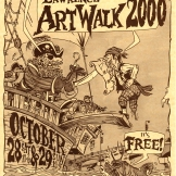 Promotional poster for annual studio tour. Ink drawing and hand lettering, 2000.