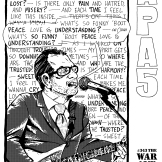 """This """"peace"""" interior """"cover"""" for our """"War and Peace"""" theme turned out better than my """"war"""" effort; July 2003."""