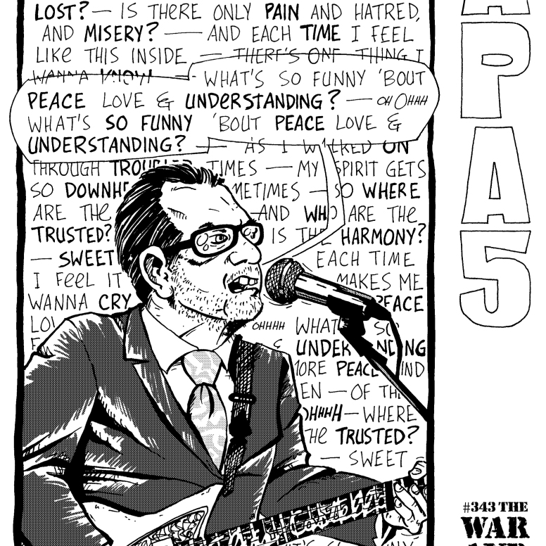 "This ""peace"" interior ""cover"" for our ""War and Peace"" theme turned out better than my ""war"" effort; July 2003."