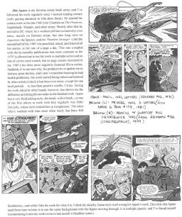 """I ran this page sharing the influence Jim Aparo had on my art during our """"Influences"""" issue in July 2000, and again in Aug. 2005 following his death."""