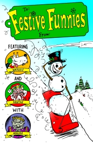 Festive Funnies No. 1 cover art by Dale Martin