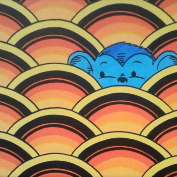 """Blue Mitchell"". Acrylic on panel, 12″ x 18″, 2019."
